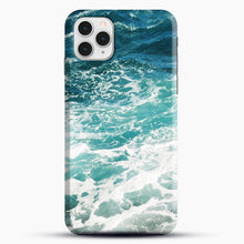 Load image into Gallery viewer, Blue Ocean Waves iPhone 11 Pro Case, Black Snap 3D Case | JoeYellow.com