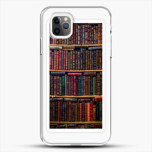 Load image into Gallery viewer, Books iPhone 11 Pro Max Case, White Plastic Case | JoeYellow.com