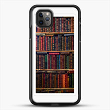 Load image into Gallery viewer, Books iPhone 11 Pro Max Case, Black Rubber Case | JoeYellow.com