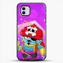 Load image into Gallery viewer, Brawl Stars Gene iPhone 11 Case, Black Plastic Case | JoeYellow.com