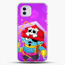 Load image into Gallery viewer, Brawl Stars Gene iPhone 11 Case, White Plastic Case | JoeYellow.com