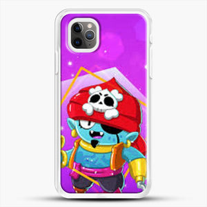 Brawl Stars Gene iPhone 11 Pro Max Case, White Rubber Case | JoeYellow.com