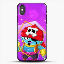 Load image into Gallery viewer, Brawl Stars Gene iPhone X Case, Black Plastic Case | JoeYellow.com