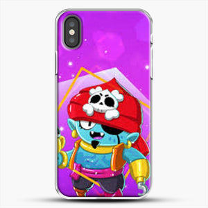 Brawl Stars Gene iPhone X Case, White Plastic Case | JoeYellow.com
