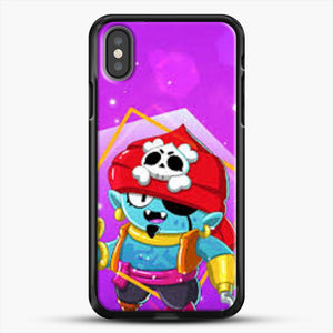 Brawl Stars Gene iPhone X Case, Black Rubber Case | JoeYellow.com