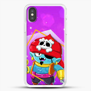 Brawl Stars Gene iPhone X Case, White Rubber Case | JoeYellow.com
