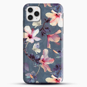 Butterflies And Hibiscus Flowers A Painted iPhone 11 Pro Case, Black Snap 3D Case | JoeYellow.com