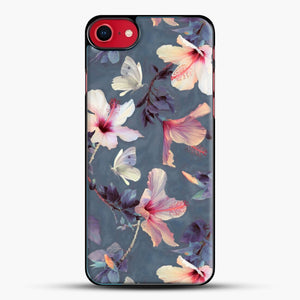 Butterflies And Hibiscus Flowers A Painted iPhone 8 Case, Black Plastic Case | JoeYellow.com