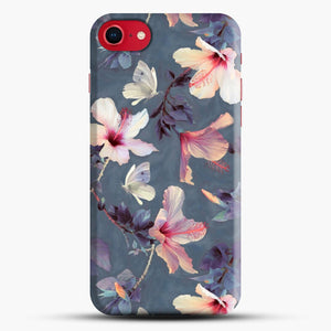 Butterflies And Hibiscus Flowers A Painted iPhone 8 Case, Black Snap 3D Case | JoeYellow.com