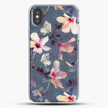 Load image into Gallery viewer, Butterflies And Hibiscus Flowers A Painted iPhone X Case, White Plastic Case | JoeYellow.com