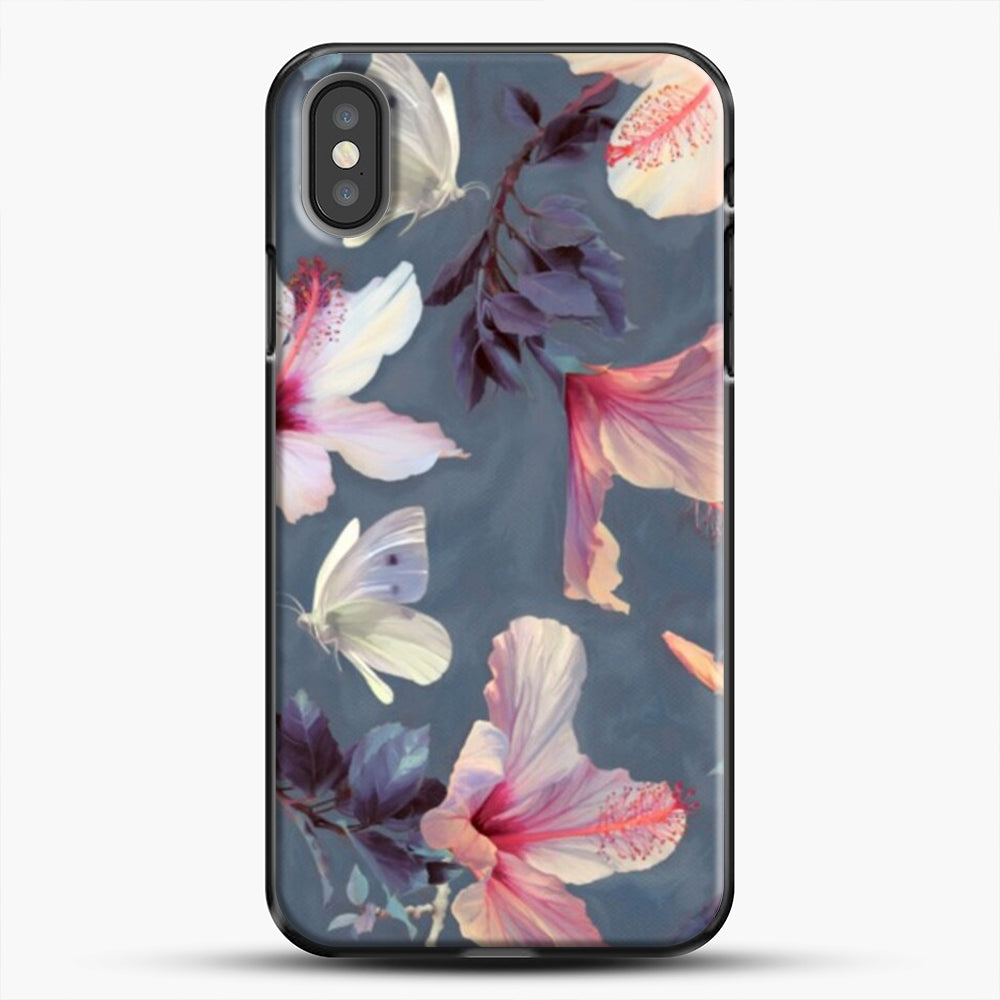 Butterflies And Hibiscus Flowers iPhone Case