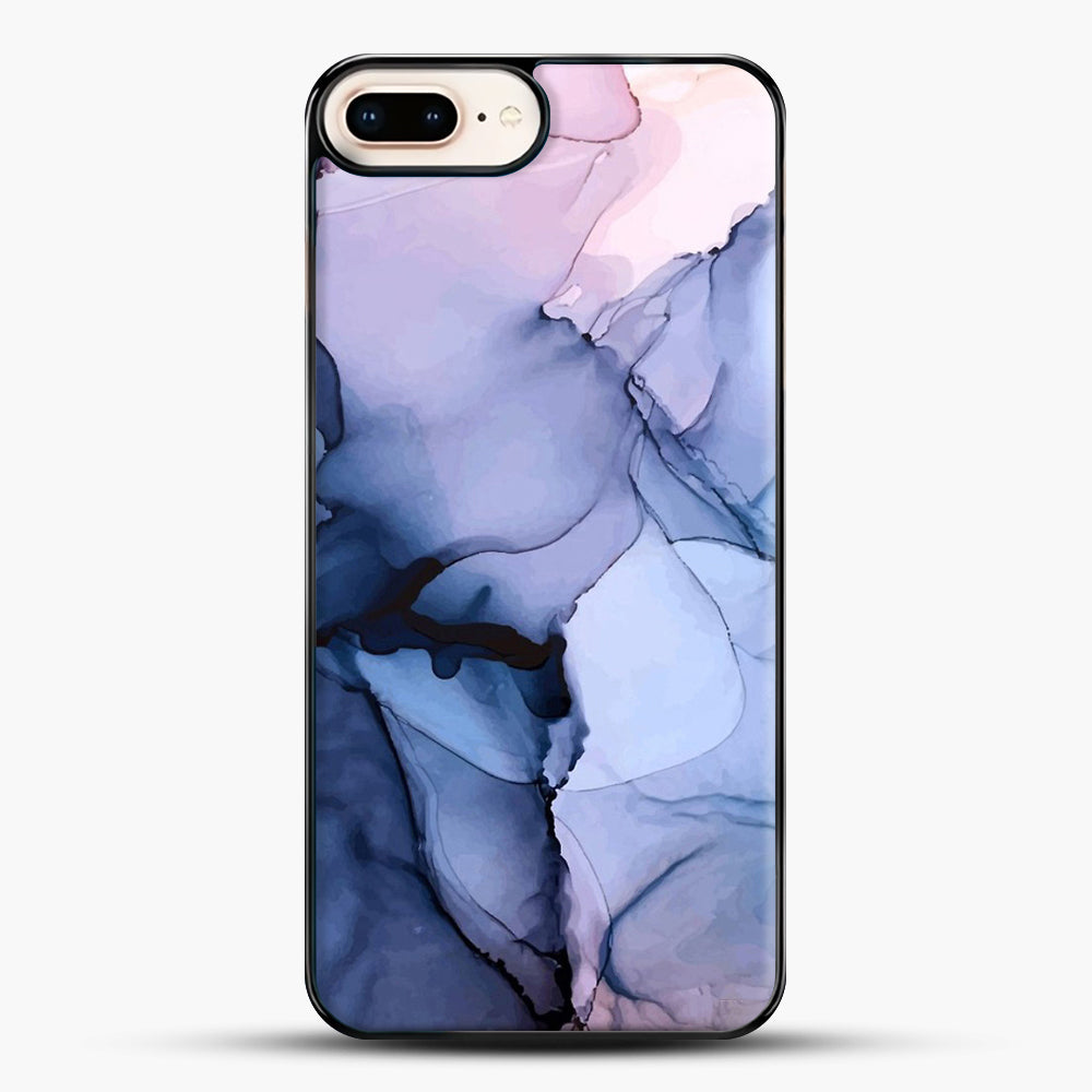 Captivating 1 Alcohol Ink Painting iPhone 8 Plus Case, Black Plastic Case | JoeYellow.com