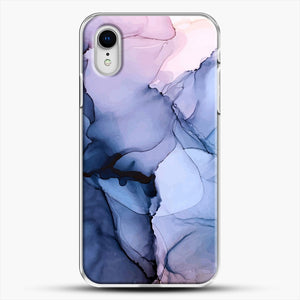 Captivating 1 Alcohol Ink Painting iPhone XR Case, White Plastic Case | JoeYellow.com