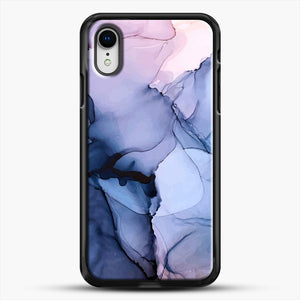 Captivating 1 Alcohol Ink Painting iPhone XR Case, Black Rubber Case | JoeYellow.com
