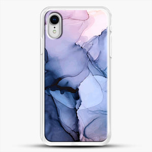 Captivating 1 Alcohol Ink Painting iPhone XR Case, White Rubber Case | JoeYellow.com