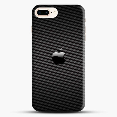 Carbon Fiber Apples iPhone 7 Plus Case, Black Snap 3D Case | JoeYellow.com