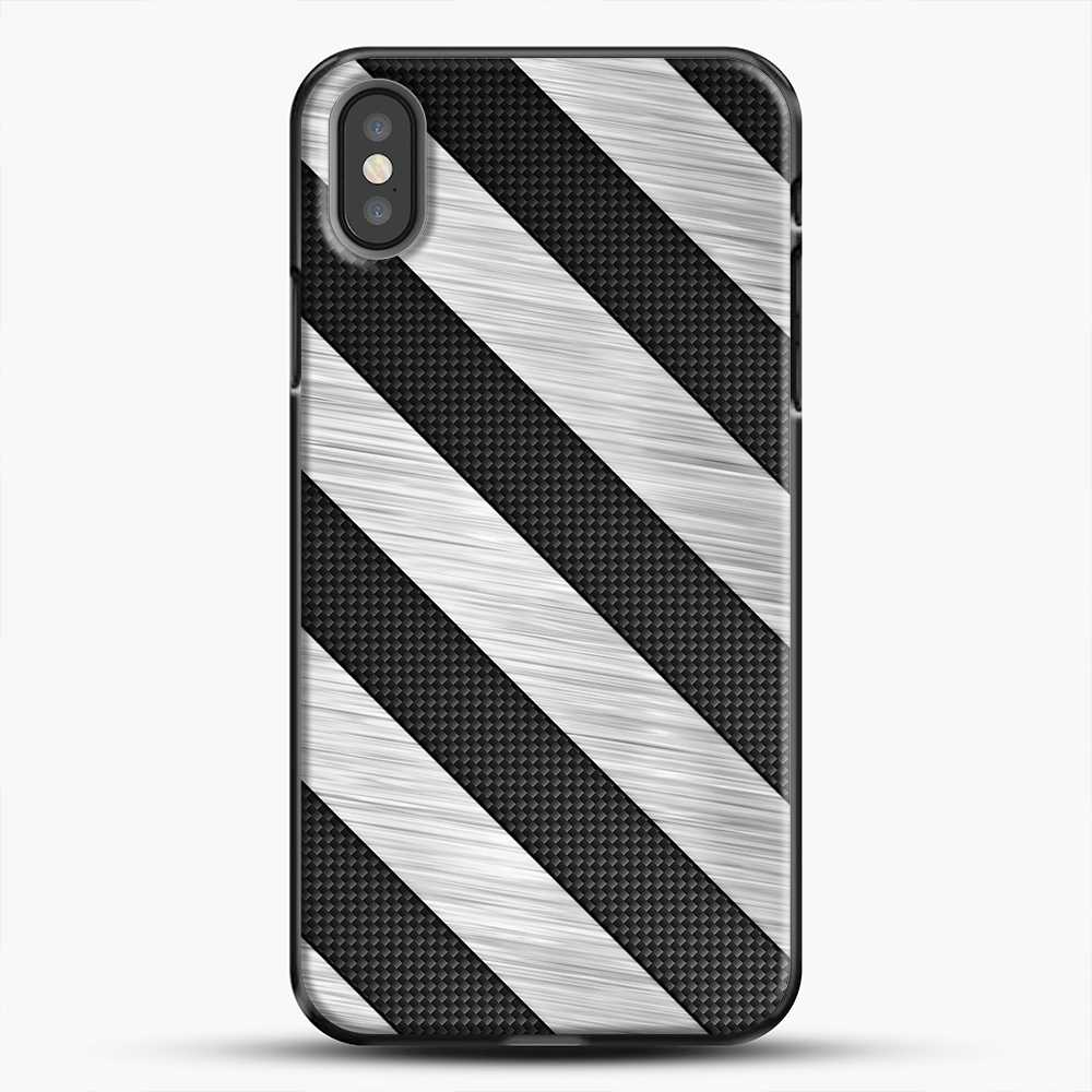Carbon Fiber Brushed iPhone X Case, Black Plastic Case | JoeYellow.com