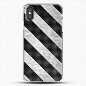 Carbon Fiber Brushed iPhone X Case, White Plastic Case | JoeYellow.com