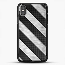 Load image into Gallery viewer, Carbon Fiber Brushed iPhone X Case, Black Rubber Case | JoeYellow.com