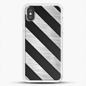 Carbon Fiber Brushed iPhone X Case, White Rubber Case | JoeYellow.com