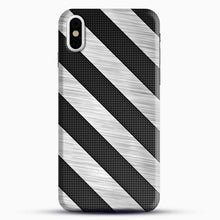 Load image into Gallery viewer, Carbon Fiber Brushed iPhone X Case, Black Snap 3D Case | JoeYellow.com