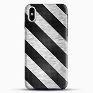 Carbon Fiber Brushed iPhone X Case, Black Snap 3D Case | JoeYellow.com