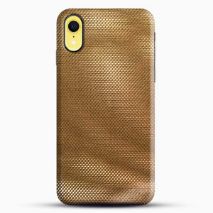 Carbon Fiber Gold Texture iPhone XR Case, Black Snap 3D Case | JoeYellow.com