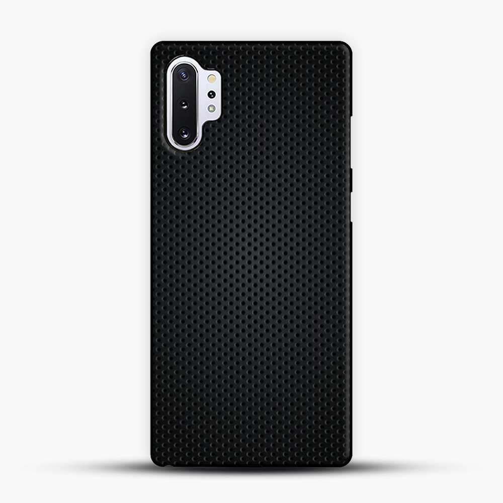 Carbon Fiber Graphics Samsung Galaxy Note 10 Plus Case, Black Plastic Case | JoeYellow.com