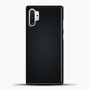 Carbon Fiber Graphics Samsung Galaxy Note 10 Plus Case, Black Rubber Case | JoeYellow.com