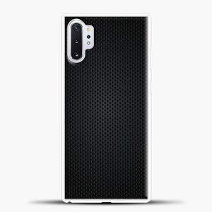 Carbon Fiber Graphics Samsung Galaxy Note 10 Plus Case, White Rubber Case | JoeYellow.com