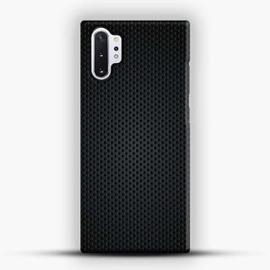 Carbon Fiber Graphics Samsung Galaxy Note 10 Plus Case, Black Snap 3D Case | JoeYellow.com
