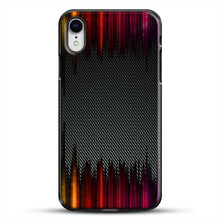 Load image into Gallery viewer, Carbon Fiber Rainbow iPhone XR Case, Black Plastic Case | JoeYellow.com