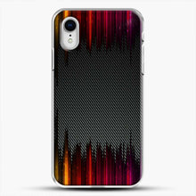 Load image into Gallery viewer, Carbon Fiber Rainbow iPhone XR Case, White Plastic Case | JoeYellow.com