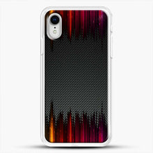 Load image into Gallery viewer, Carbon Fiber Rainbow iPhone XR Case, White Rubber Case | JoeYellow.com