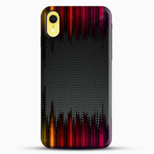 Load image into Gallery viewer, Carbon Fiber Rainbow iPhone XR Case, Black Snap 3D Case | JoeYellow.com