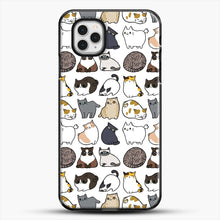 Load image into Gallery viewer, Cats Cats Cats iPhone 11 Pro Case, Black Plastic Case | JoeYellow.com