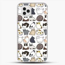 Load image into Gallery viewer, Cats Cats Cats iPhone 11 Pro Case, White Plastic Case | JoeYellow.com