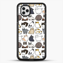 Load image into Gallery viewer, Cats Cats Cats iPhone 11 Pro Case, Black Rubber Case | JoeYellow.com