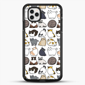 Cats Cats Cats iPhone 11 Pro Case, Black Rubber Case | JoeYellow.com
