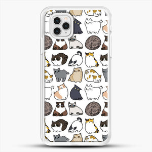 Cats Cats Cats iPhone 11 Pro Case, White Rubber Case | JoeYellow.com