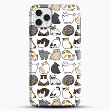 Load image into Gallery viewer, Cats Cats Cats iPhone 11 Pro Case, Black Snap 3D Case | JoeYellow.com