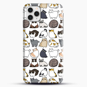 Cats Cats Cats iPhone 11 Pro Case, Black Snap 3D Case | JoeYellow.com