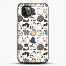Load image into Gallery viewer, Cats Cats Cats iPhone 11 Pro Max Case, Black Plastic Case | JoeYellow.com