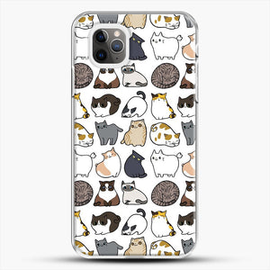 Cats Cats Cats iPhone 11 Pro Max Case, White Plastic Case | JoeYellow.com