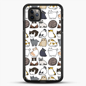 Cats Cats Cats iPhone 11 Pro Max Case, Black Rubber Case | JoeYellow.com