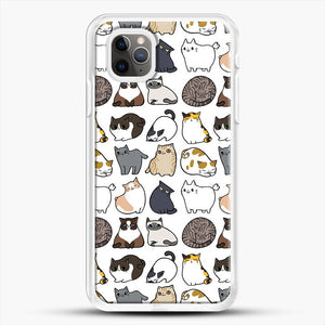 Cats Cats Cats iPhone 11 Pro Max Case, White Rubber Case | JoeYellow.com