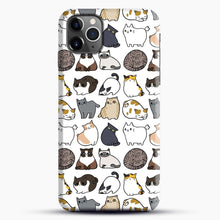 Load image into Gallery viewer, Cats Cats Cats iPhone 11 Pro Max Case, Black Snap 3D Case | JoeYellow.com