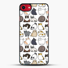 Load image into Gallery viewer, Cats Cats Cats iPhone 8 Case, Black Plastic Case | JoeYellow.com