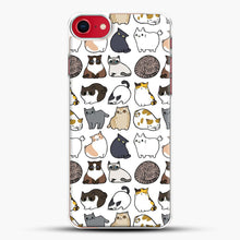 Load image into Gallery viewer, Cats Cats Cats iPhone 8 Case, White Plastic Case | JoeYellow.com