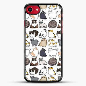 Cats Cats Cats iPhone 8 Case, Black Rubber Case | JoeYellow.com
